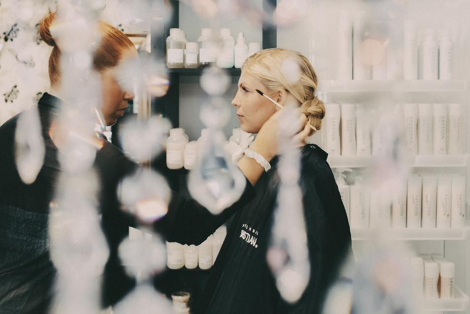 bröllopsfotograf Umeå smink