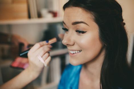 Bröllopsfotograf Umeå makeup