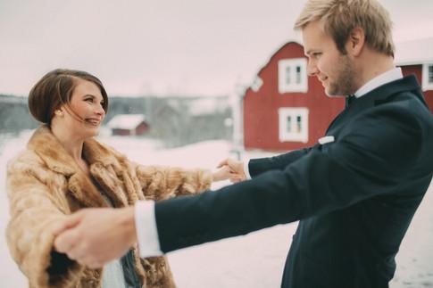 bröllopsfoto Umeå brudpar