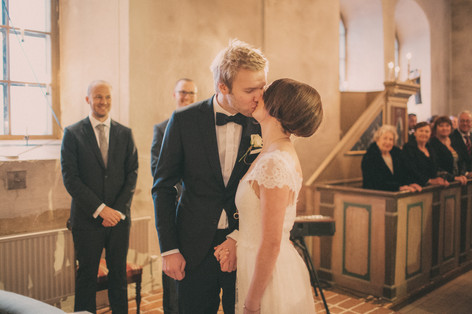 bröllopsfoto Umeå kyss vigsel