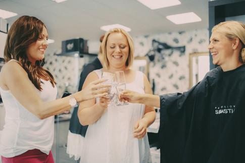 bröllopsfotograf Sundsvall skål