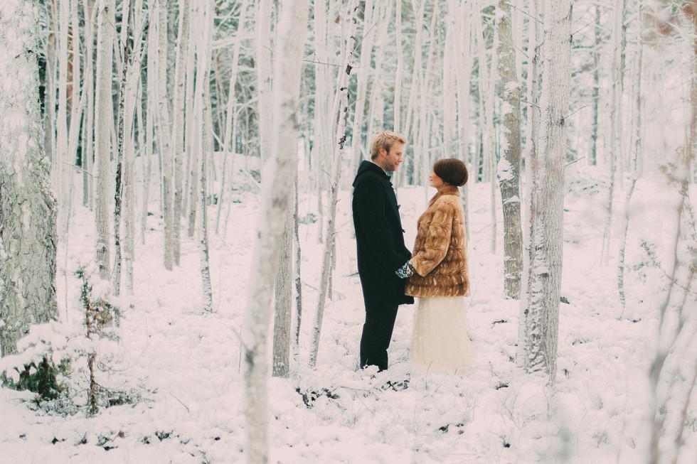 bröllopsfoto Umeå vinterbröllop