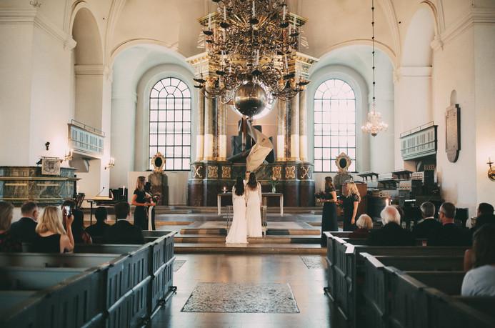 Bröllopsfotograf Umeå kyrka