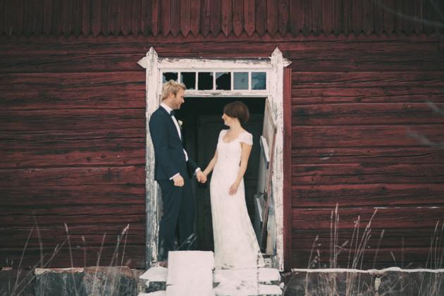 bröllopsfoto Sundsvall lada