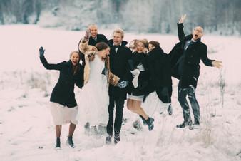 bröllopsfoto Sundsvall vänner