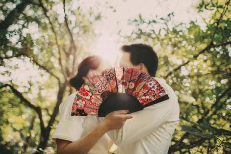 bröllopsfotograf motljus Härnösand