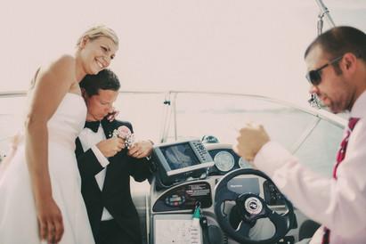 bröllopsfotograf Örnsköldsvik båten