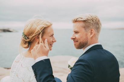 bröllopsfotograf brudpar Umeå