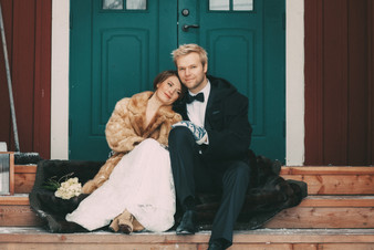 bröllopsfoto Örnsköldsvik brudpar