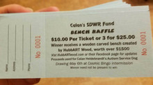 Tickets for Calan's SDWR Fund bench Carving