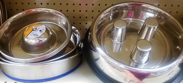 Stainless Steel Slow Feed Bowls