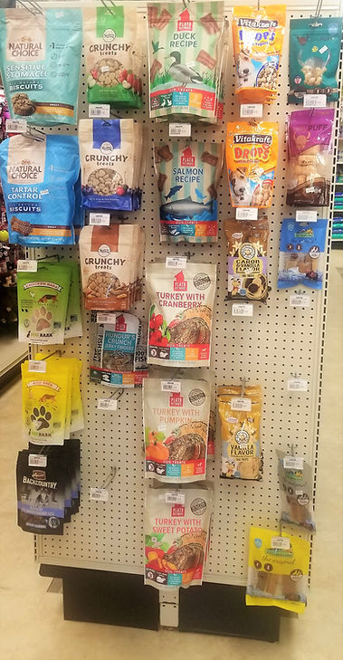 Nutro Cruncy Dog Treats, Platos Dog Treats, Roo Bark, Himalayan Yak Cheese Chews, Vitakraft Yogurt Drops, Merrick Backcountry Dog Treats