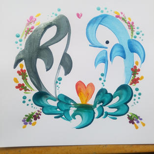 Couples Whale/Dolphin