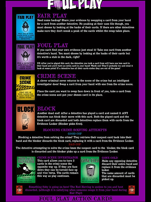 Action Cards Once Upon a Crime : Fancy Pants PDF