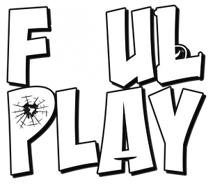 Foul Play Card Game Text Logo