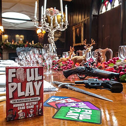 Foul Play displayed on Dining Table