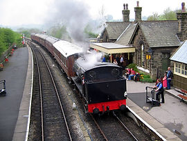 Embsay Station with Train Featured