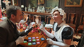 Maid and Butler play Foul Play card game