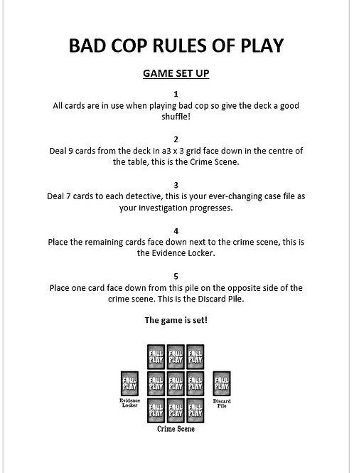 Bad Cop Rules of Play : No Frills