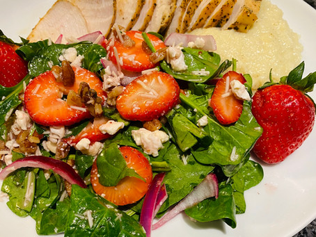 Start spring off right, with this delicious strawberry, spinach salad
