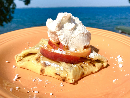 EASY: Peach or cherry, cream cheese crepes, give 'em a try