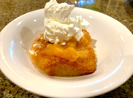 The EASIEST Peach Cobbler, Perfect for Fall