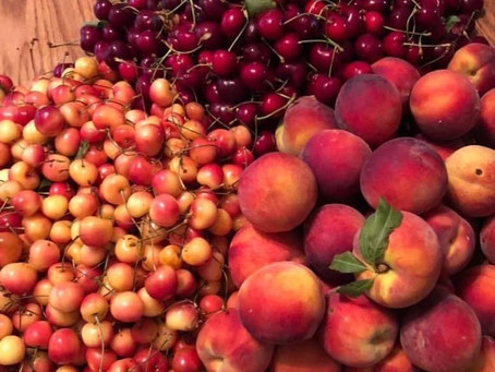 Apricots have more potassium than bananas, peaches and cherries aren't far behind