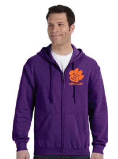 Sweatshirt - TWAS Purple Zip Up