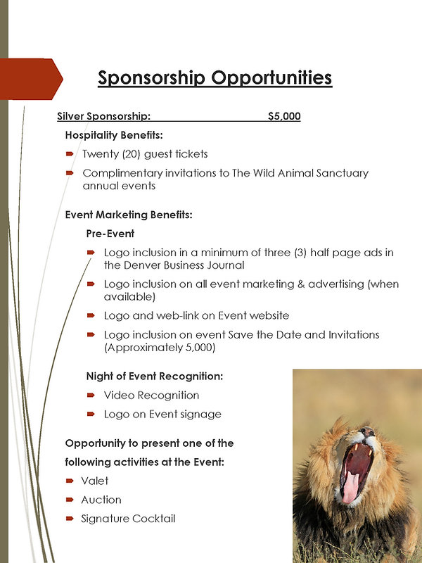 The Wild Animal Sanctuary Corporate Cele