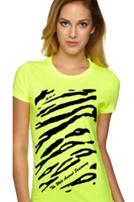 T-Shirt - Lime Green Tiger Stripe