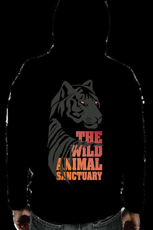 Sweatshirt - TWAS Tiger Back Black Pullover