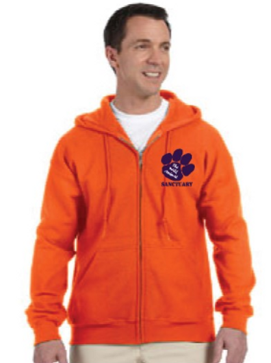 Sweatshirt - TWAS Orange Zip Up