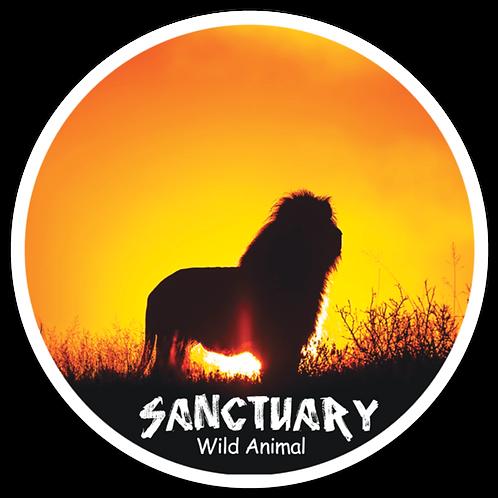 Sanctuary Round Lion Magnet