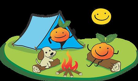 Besties logo characters camping.png