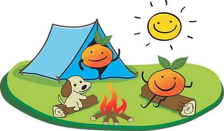 Besties logo characters camping.png