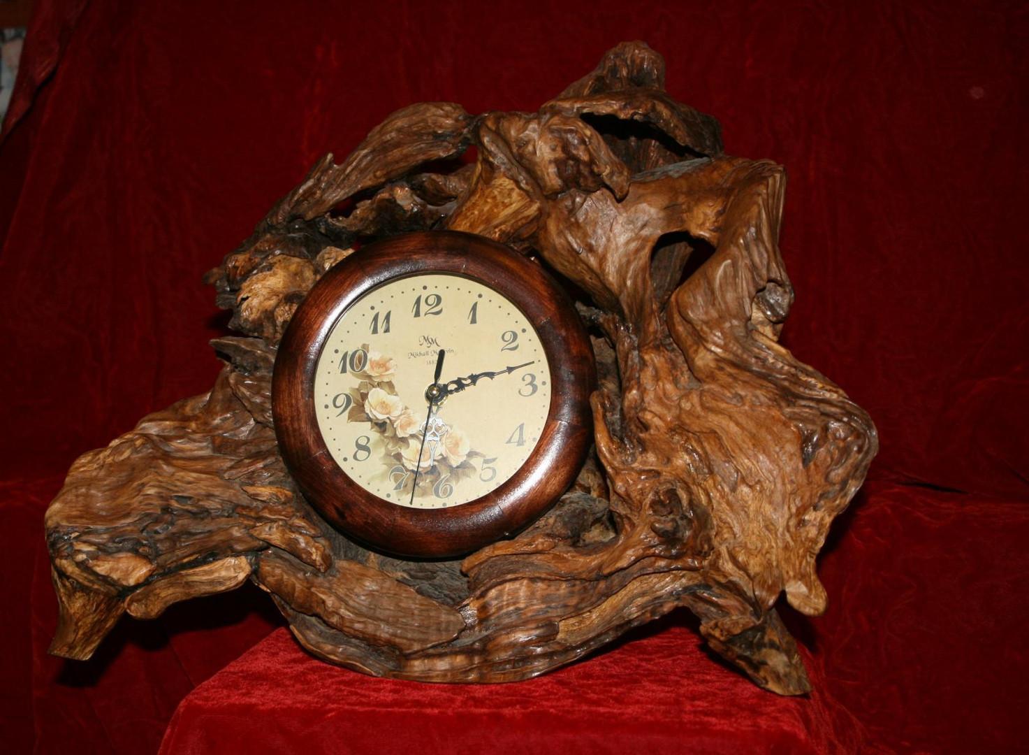 Часы каминные, дуб, 400х350 мм.