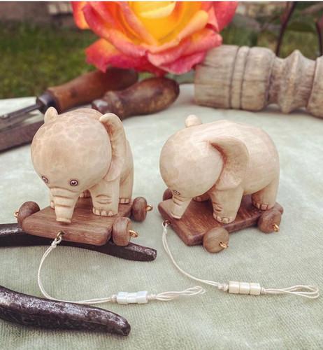Слоники, 5-6см., липа, орех
