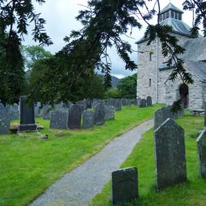 A view of St. Melangell's Church