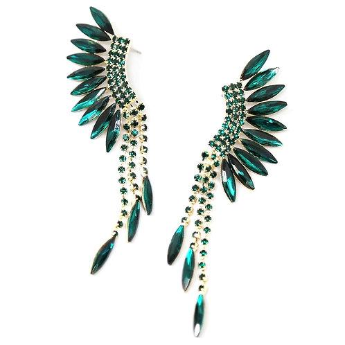 Marquise Stone Fringe Drop Earrings