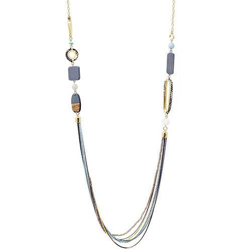 Beaded Drape Long Necklace