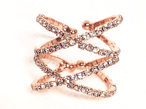 Pave Criss Cross Ring