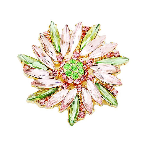 Crystal Flower Pin