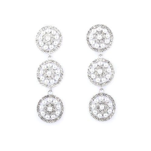 Embellished Triple Pearl Earrings