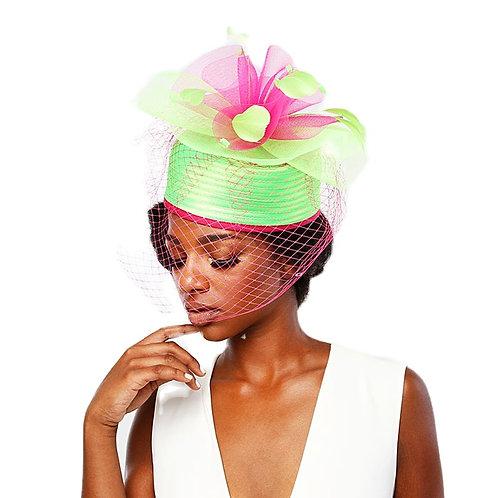 Mesh Veil Box Hat