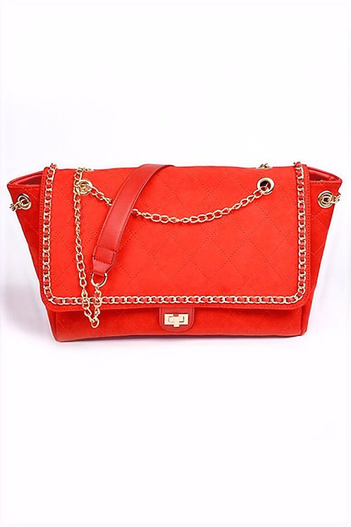 Large Quilted Suede Crossbody