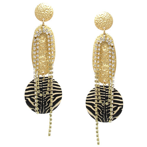 Zebra Disc Earrings