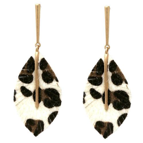 Leopard Fringed Earrings