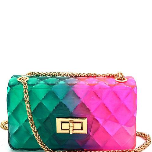 Jelly Flap 2-Way Shoulder Bag