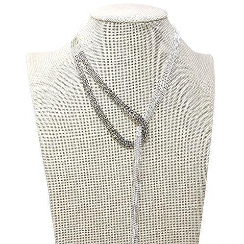 Rhinestone Ball Chain Y Necklace