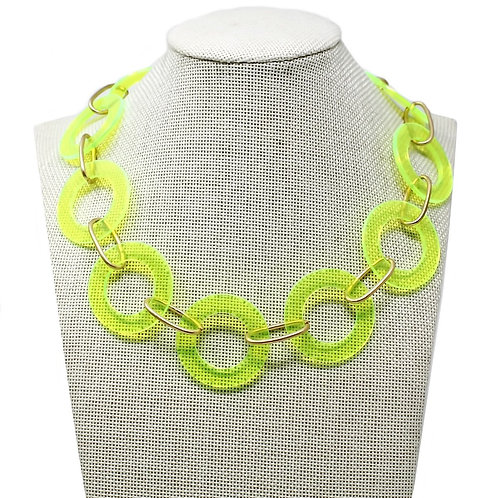 Neon Circle Linked Necklace